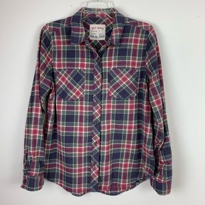 Girl Krazy Plaid Split Hem Flannel